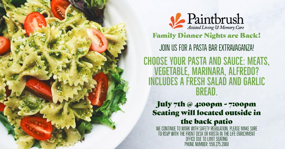 July 7 Pasta Dinner