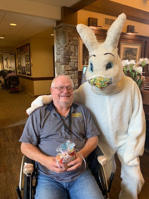 Easter Bunny with Mask